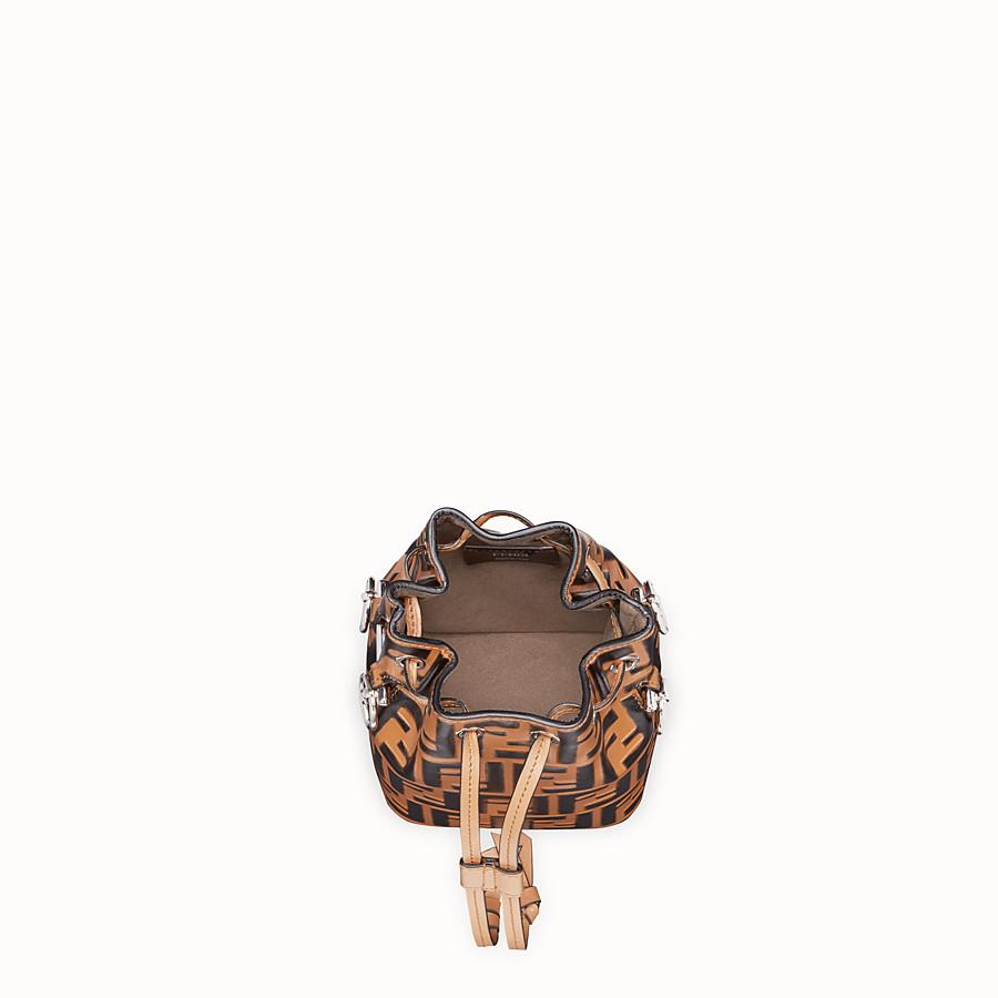 FENDI 몽 트레죠르 - 브라운 컬러의 가죽 미니 백 - view 4 detail