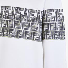 FENDI SWEATSHIRT - White cotton sweatshirt - view 3 thumbnail