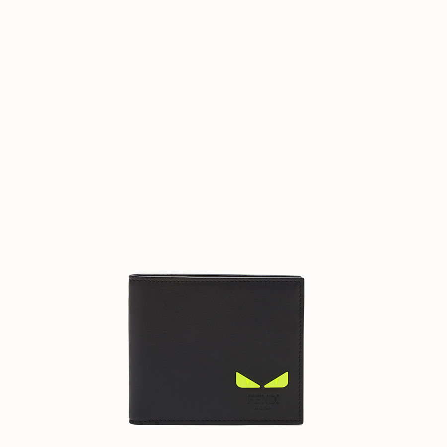 FENDI WALLET - Black leather bi-fold wallet - view 1 detail