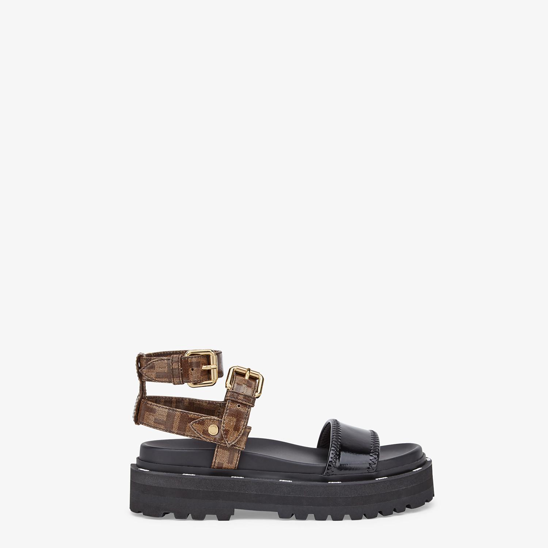 FENDI SANDALS - Sandals in glossy black neoprene - view 1 detail