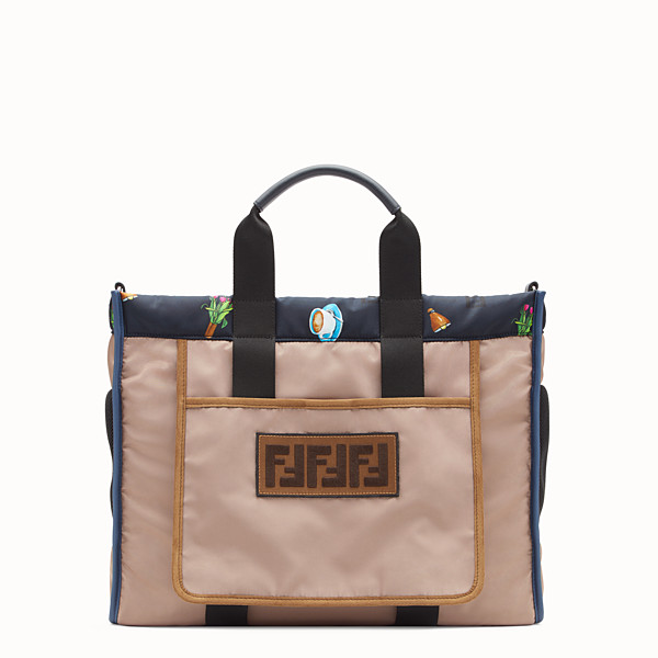 FENDI TOTE - Borsa in nylon multicolor - vista 1 thumbnail piccola