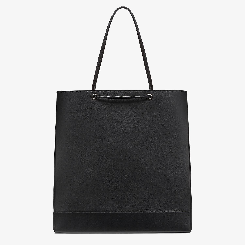 FENDI FENDI PACK MEDIUM SHOPPING BAG - Black leather bag - view 3 detail
