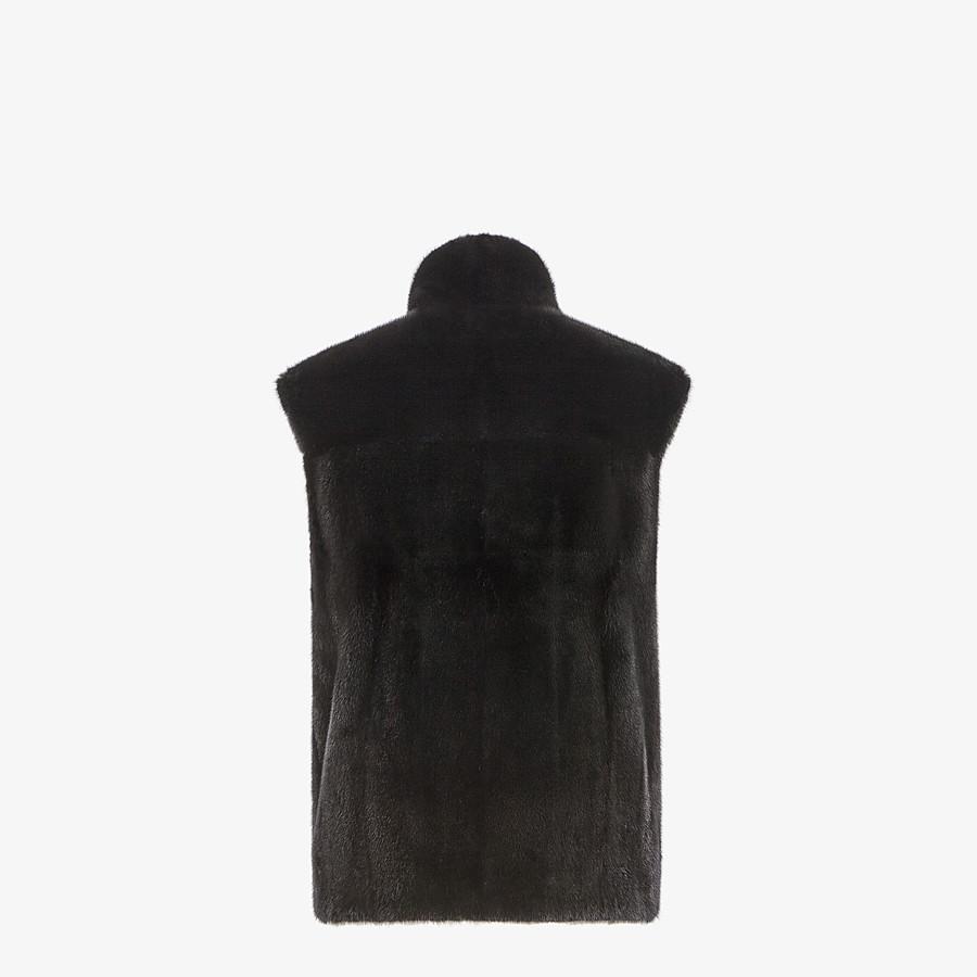 FENDI VEST - Black mink vest - view 2 detail