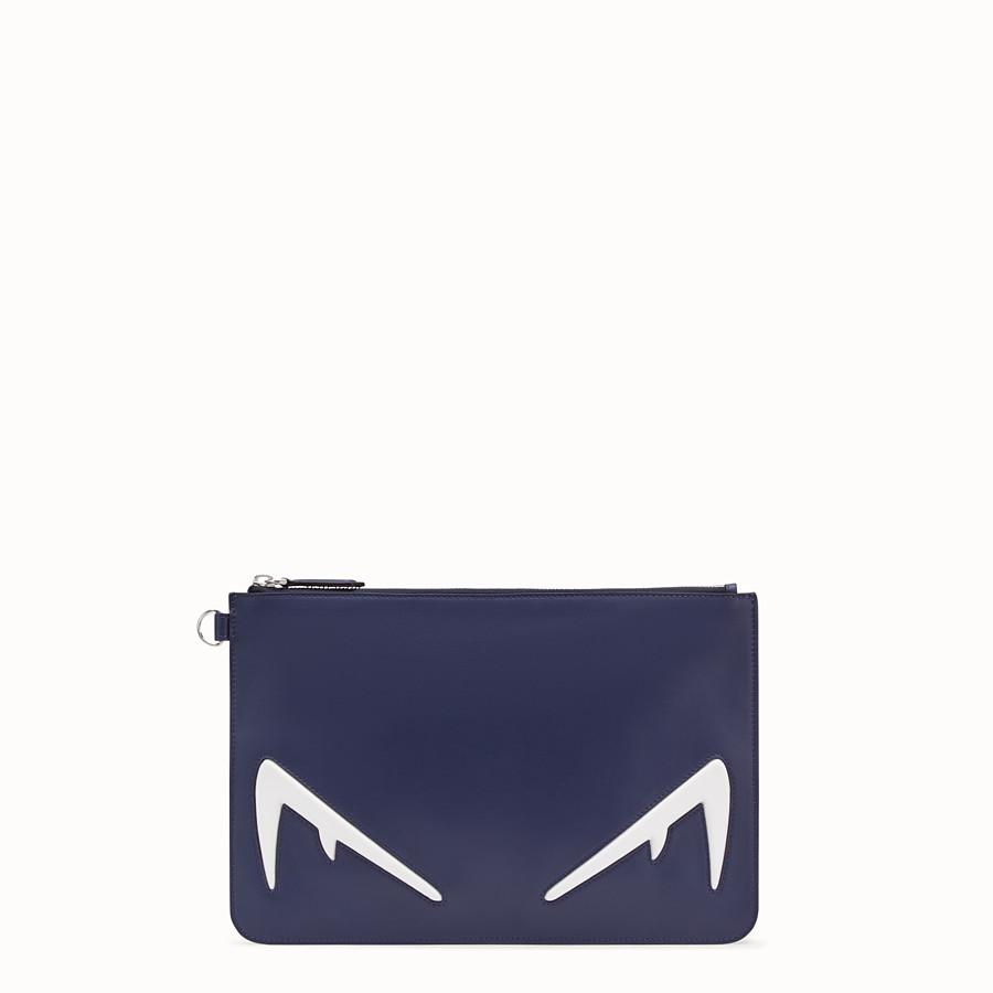 FENDI POUCH - Blue leather pochette - view 1 detail