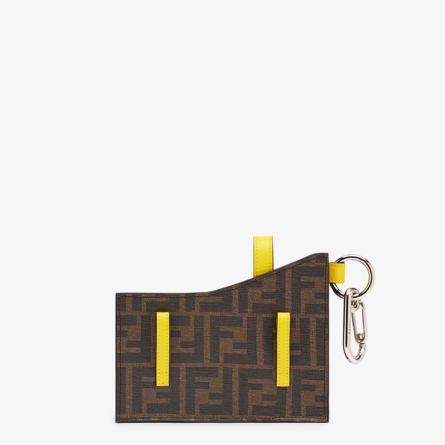 FENDI CHARM WITH POCKETS - Black PU charm - view 2 detail