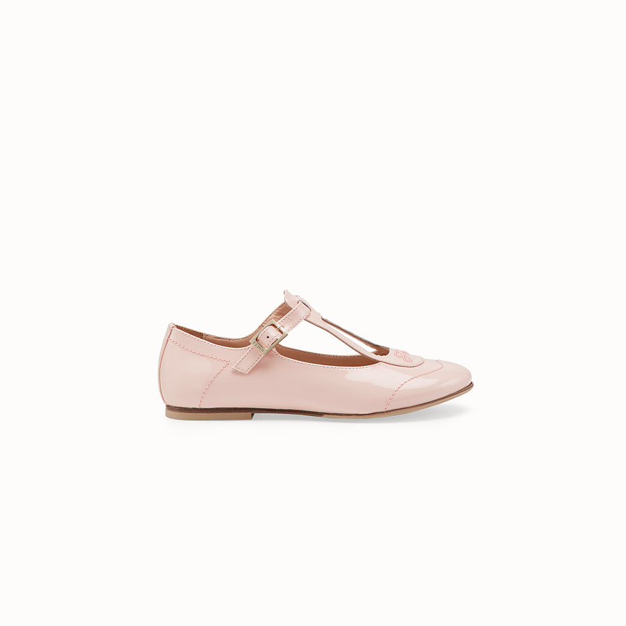 FENDI GIRL BALLERINAS - Pink patent leather chameleon ballerinas - view 1 detail