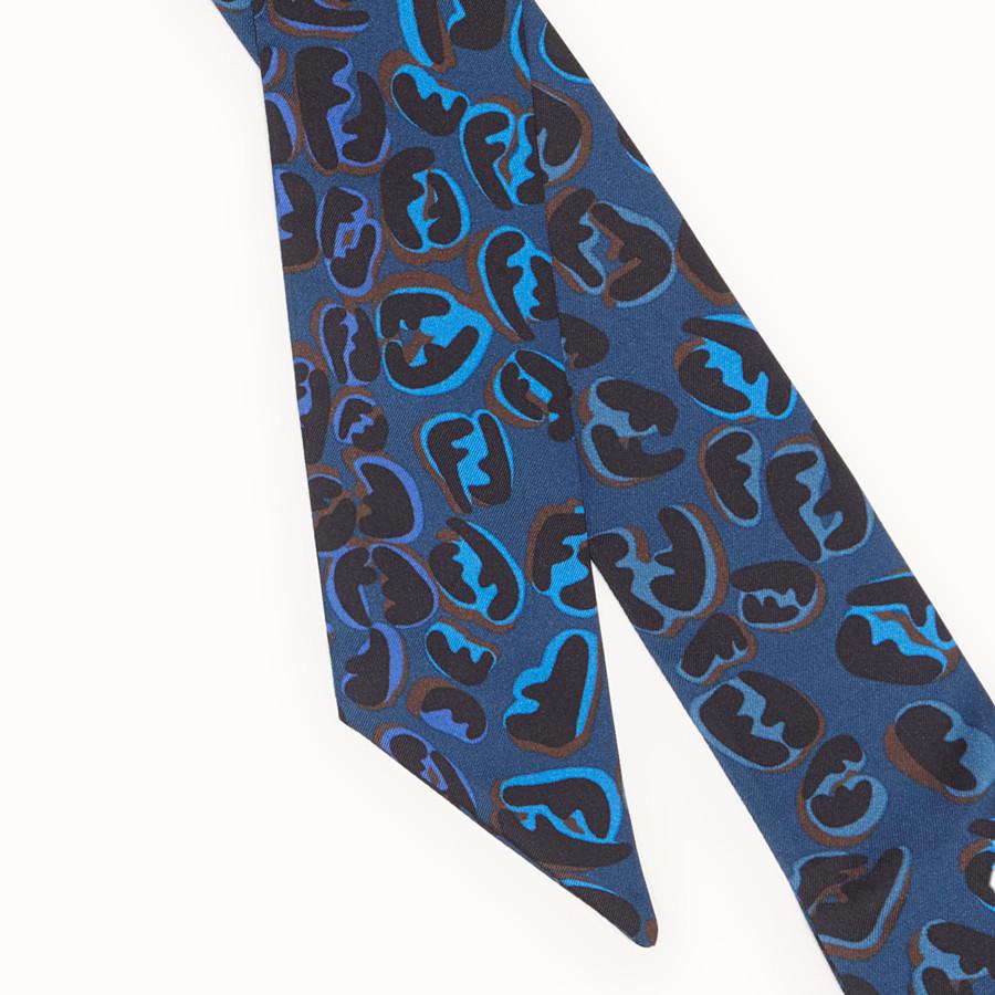 FENDI WRAPPY - Blue silk bandeau - view 2 detail