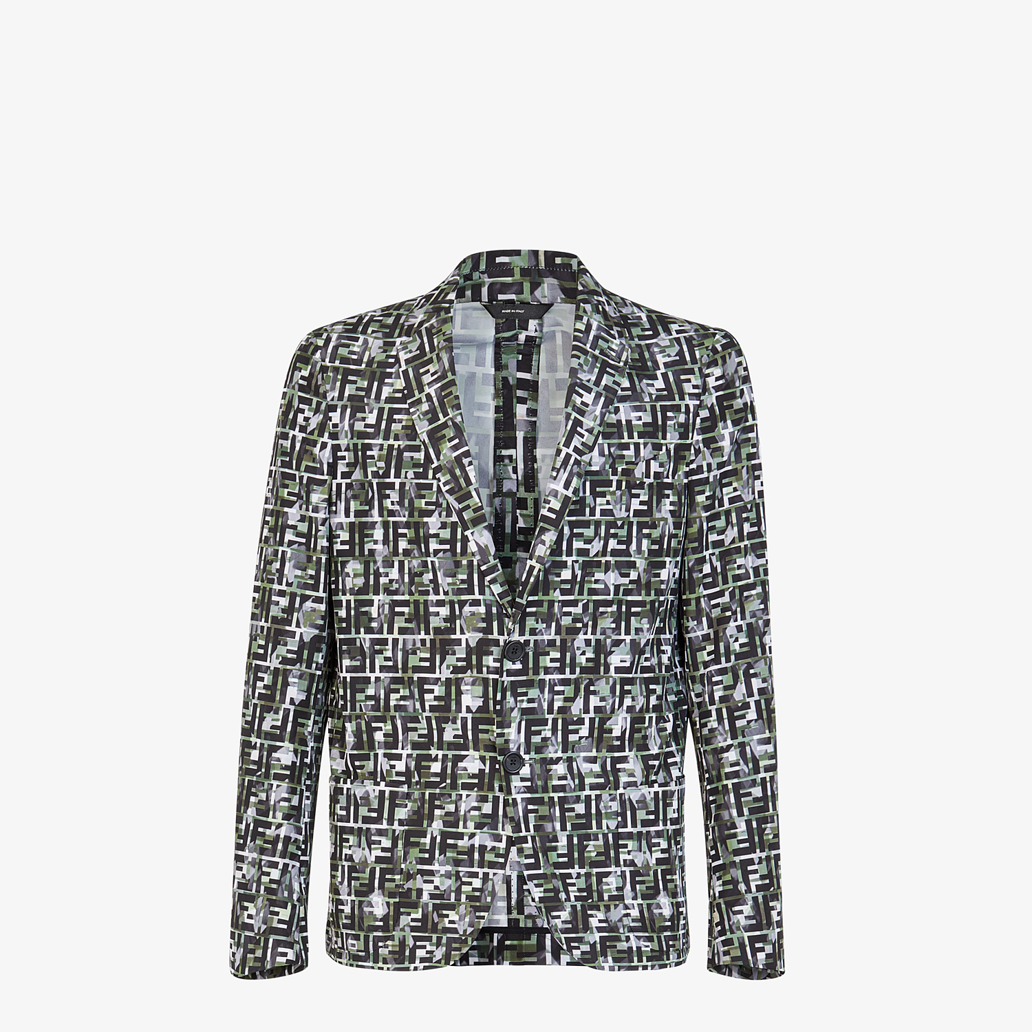 FENDI JACKET - Multicolor nylon blazer - view 1 detail
