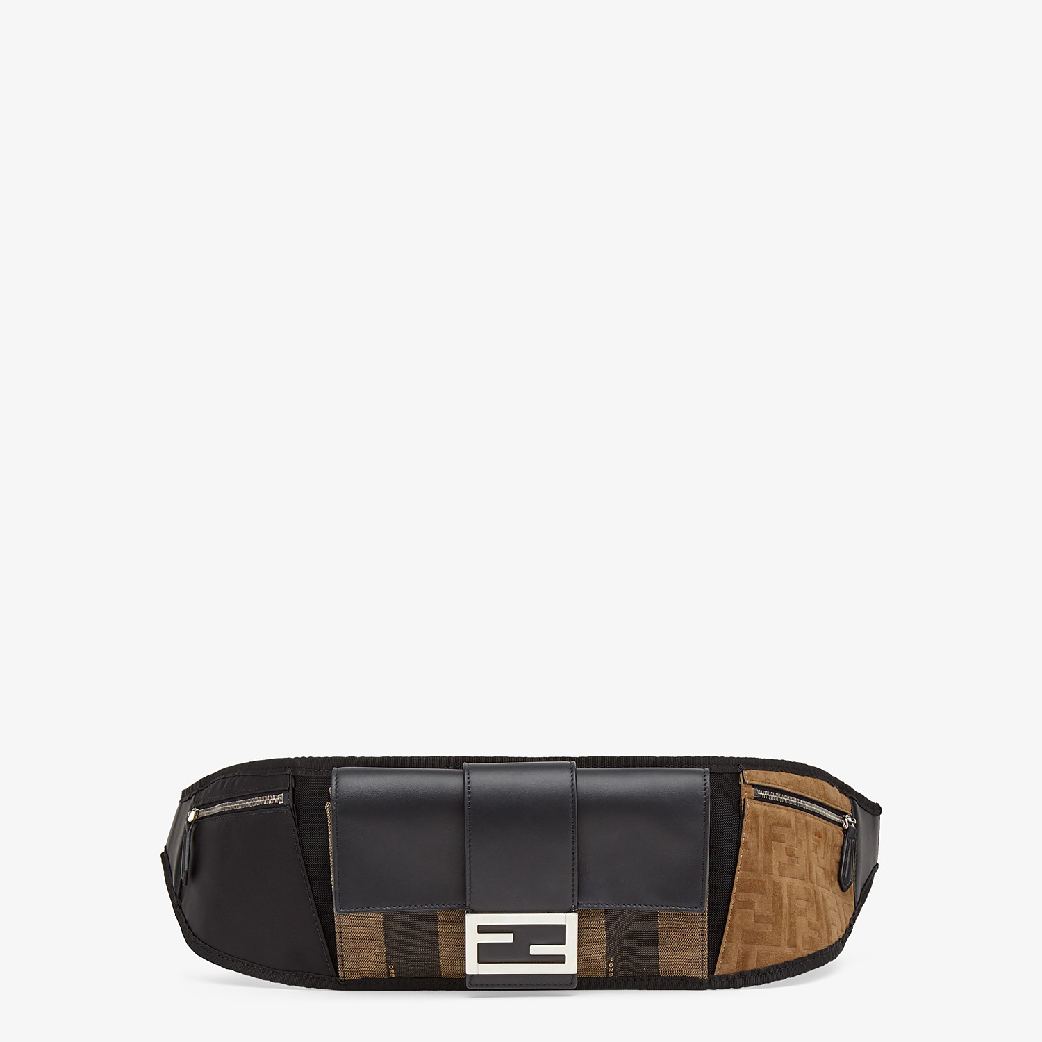 FENDI BAGUETTE BELT - Brown canvas belt bag - view 1 detail