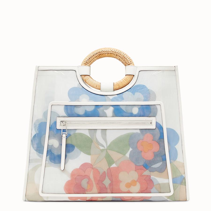 FENDI RUNAWAY SHOPPER - Multicolour leather and mesh shopper bag - view 1 detail