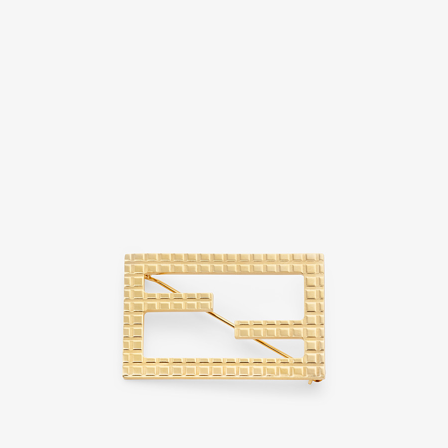 FENDI BAGUETTE BROOCH - Gold coloured brooch - view 1 detail