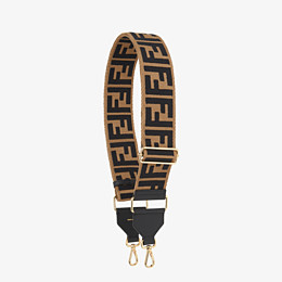 FENDI STRAP YOU - Brown canvas shoulder strap - view 1 thumbnail
