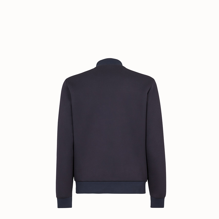 FENDI BLOUSON JACKET - Blue scuba jacket - view 2 detail