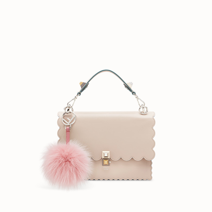 FENDI POM-POM CHARM - in light pink fur - view 2 detail