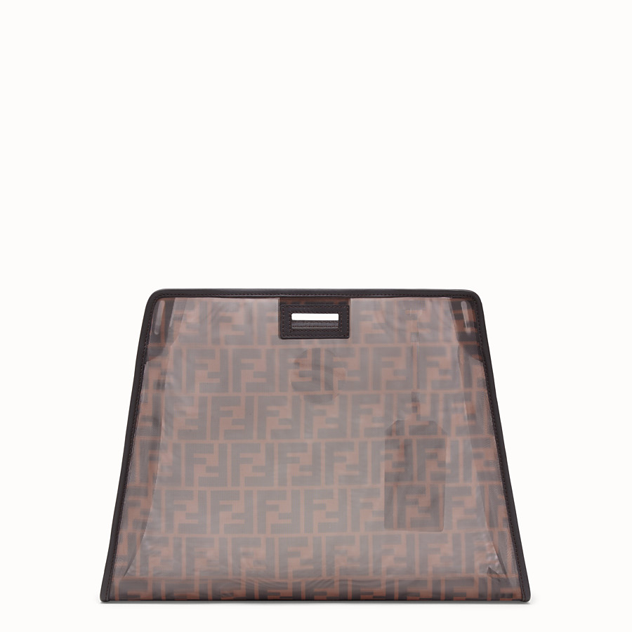 FENDI MEDIUM PEEKABOO DEFENDER - Brown mesh Peekaboo cover - view 3 detail