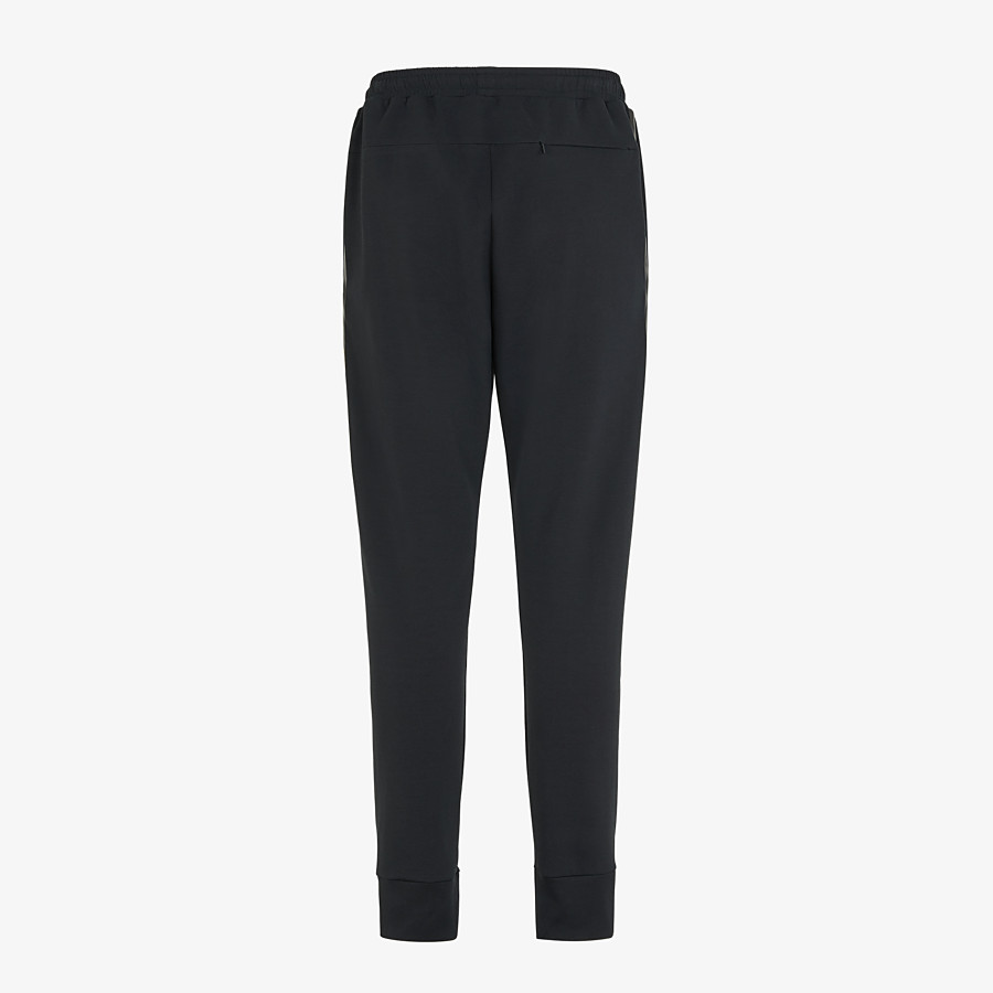 FENDI PANTS - Black cotton pants - view 2 detail