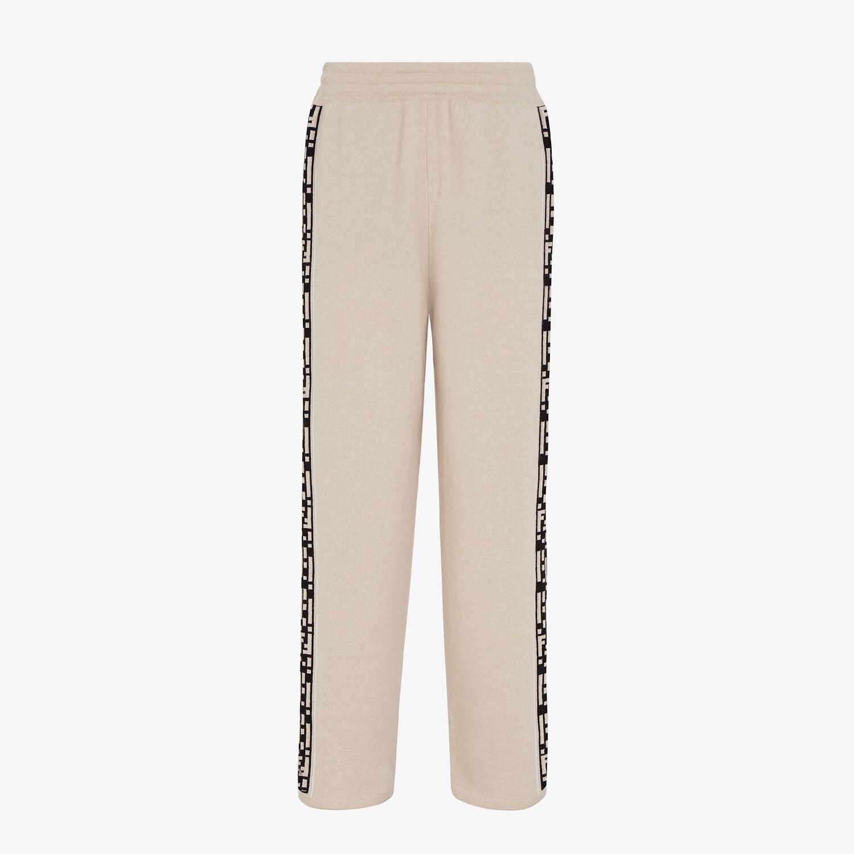 FENDI PANTS - Beige cashmere pants - view 1 detail