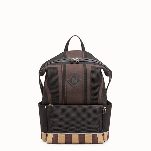 FENDI BACKPACK - Multicolor tech knit backpack - view 1 small thumbnail