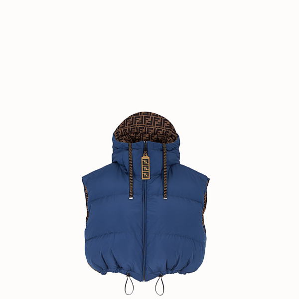 FENDI DOWN GILET - Multicolour padded gilet - view 1 small thumbnail
