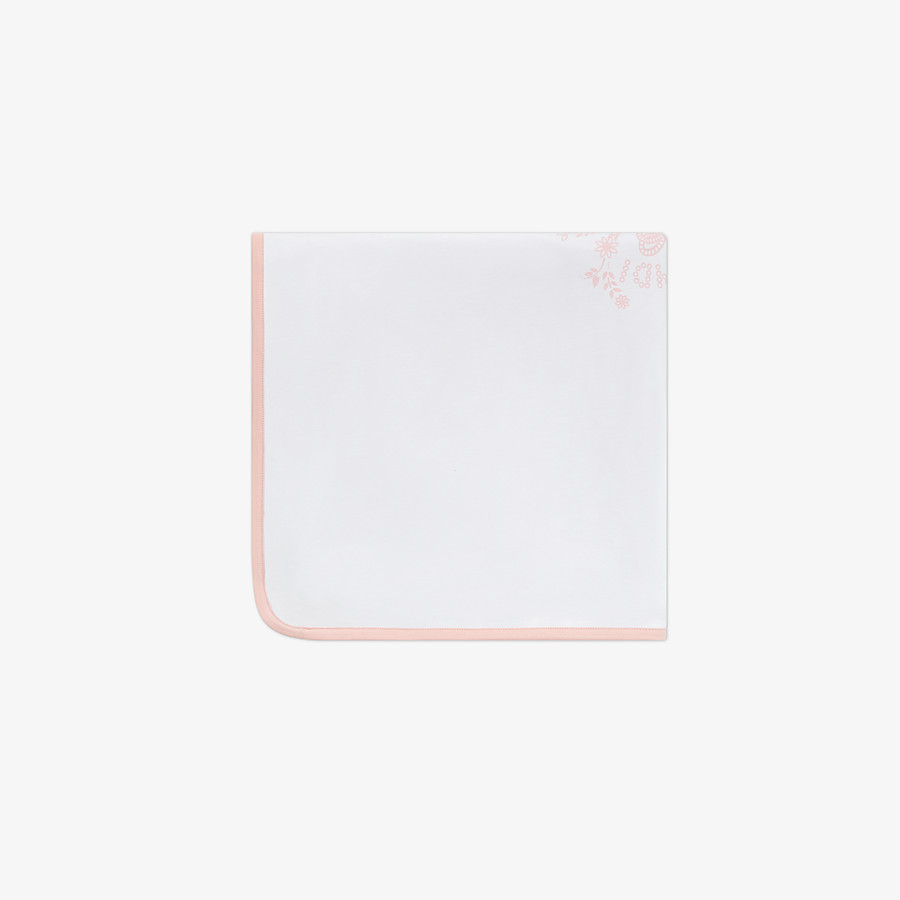 FENDI BLANKET - White and pink jersey blanket - view 2 detail