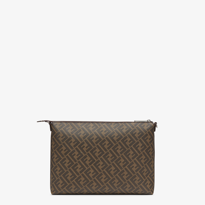 FENDI MESSENGER - Brown fabric bag - view 3 detail