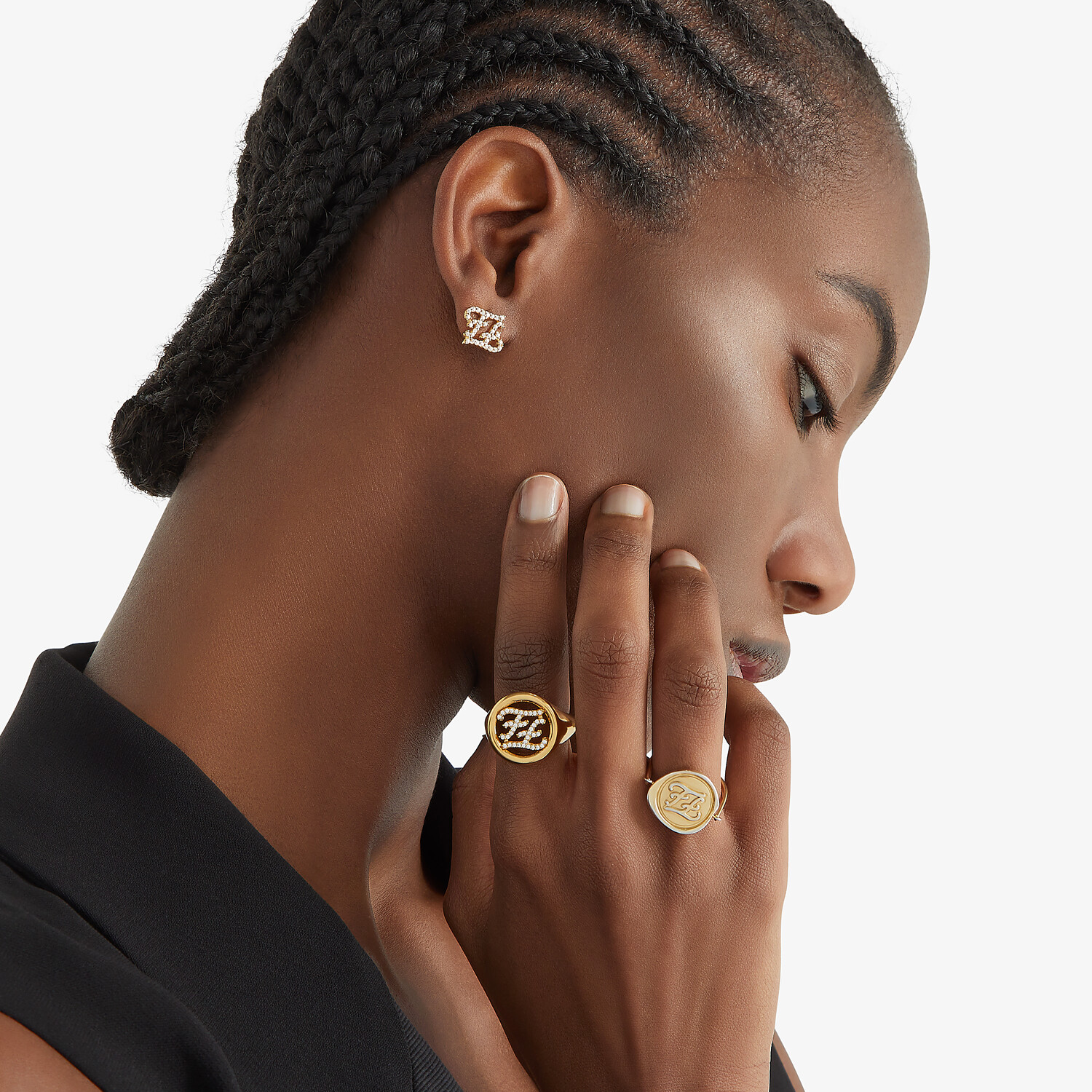FENDI KARLIGRAPHY RING - Gold-colored ring - view 3 detail
