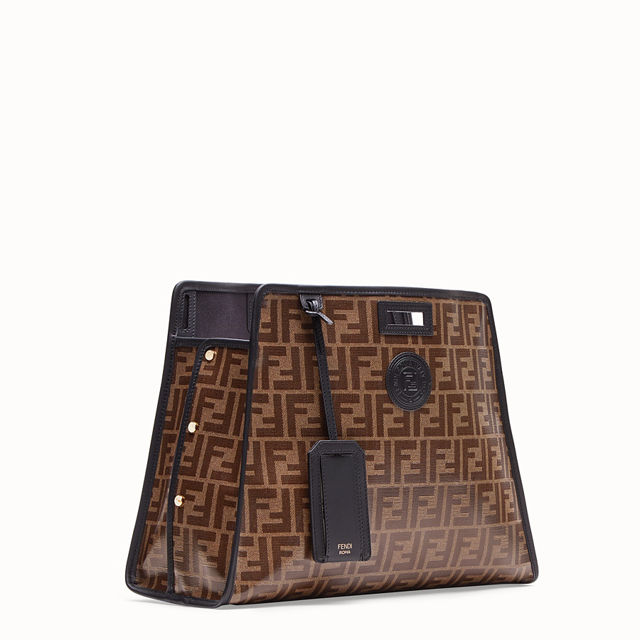 FENDI MEDIUM PEEKABOO DEFENDER - Peekaboo cover in brown fabric - view 2 detail