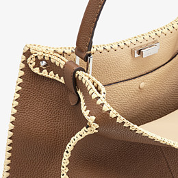 FENDI PEEKABOO X-LITE LARGE - Brown leather bag - view 7 thumbnail