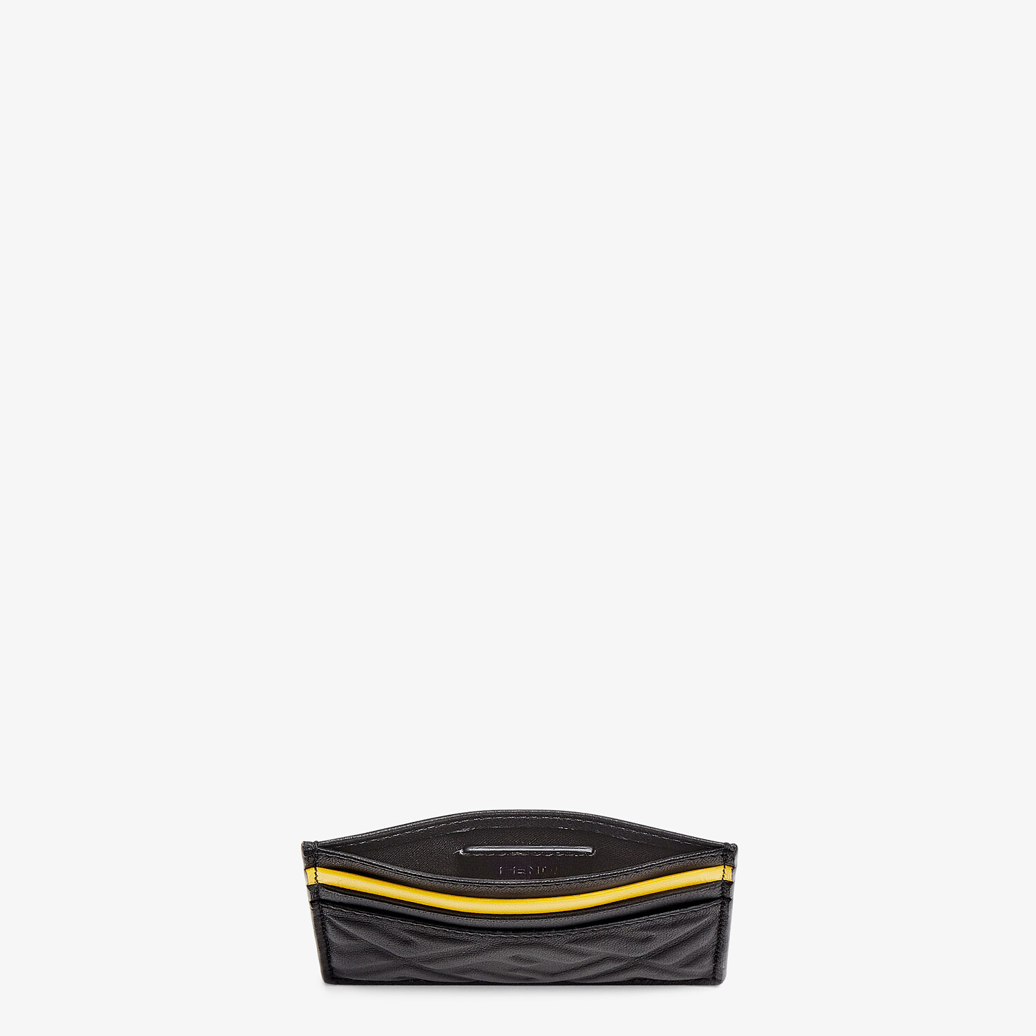 FENDI CARD HOLDER - Black nappa leather card holder - view 3 detail