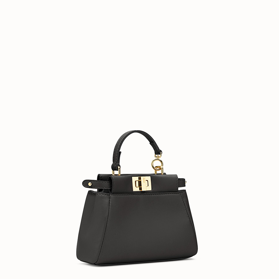 FENDI MICRO PEEKABOO - micro bag in black leather - view 2 detail