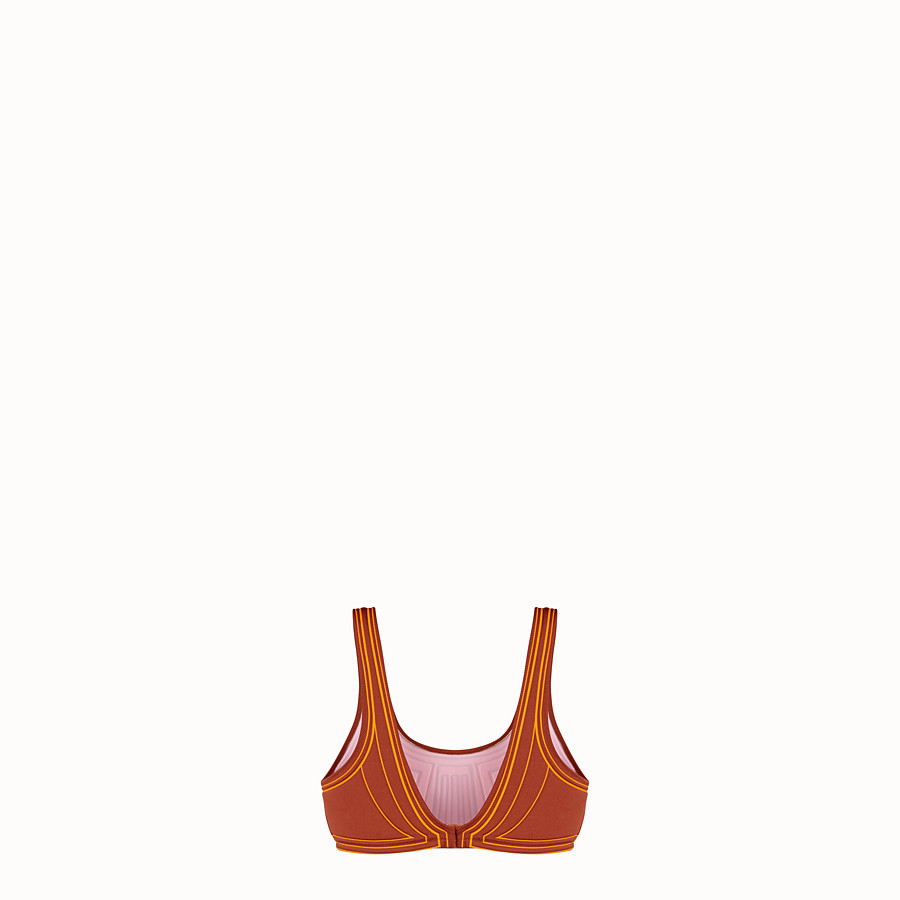 FENDI TOP - Brown Lycra top - view 2 detail