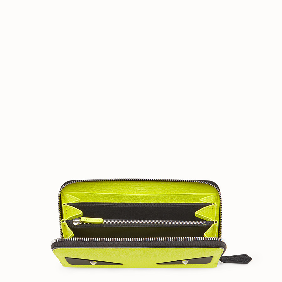 FENDI ZIP-AROUND - Yellow Romano leather wallet - view 3 detail