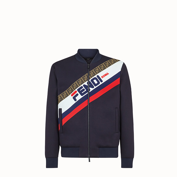 FENDI BLOUSON JACKET - Blue scuba jacket - view 1 small thumbnail
