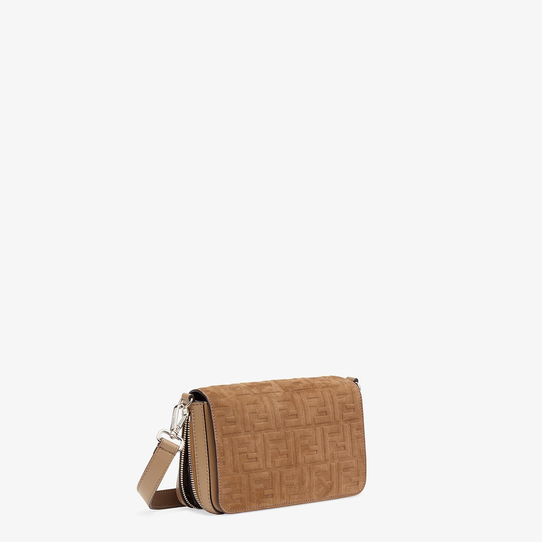 FENDI FLAP BAG - Beige leather bag - view 3 detail