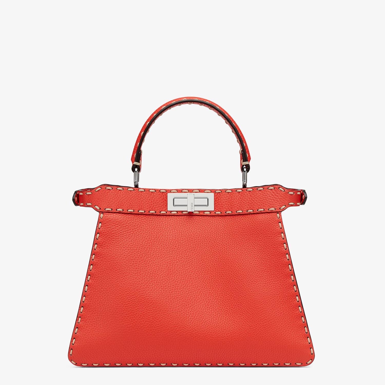 FENDI PEEKABOO ISEEU MEDIUM - Red full grain leather bag - view 5 detail