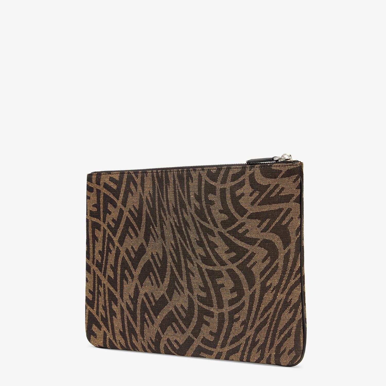 FENDI POUCH - Brown canvas pouch - view 2 detail