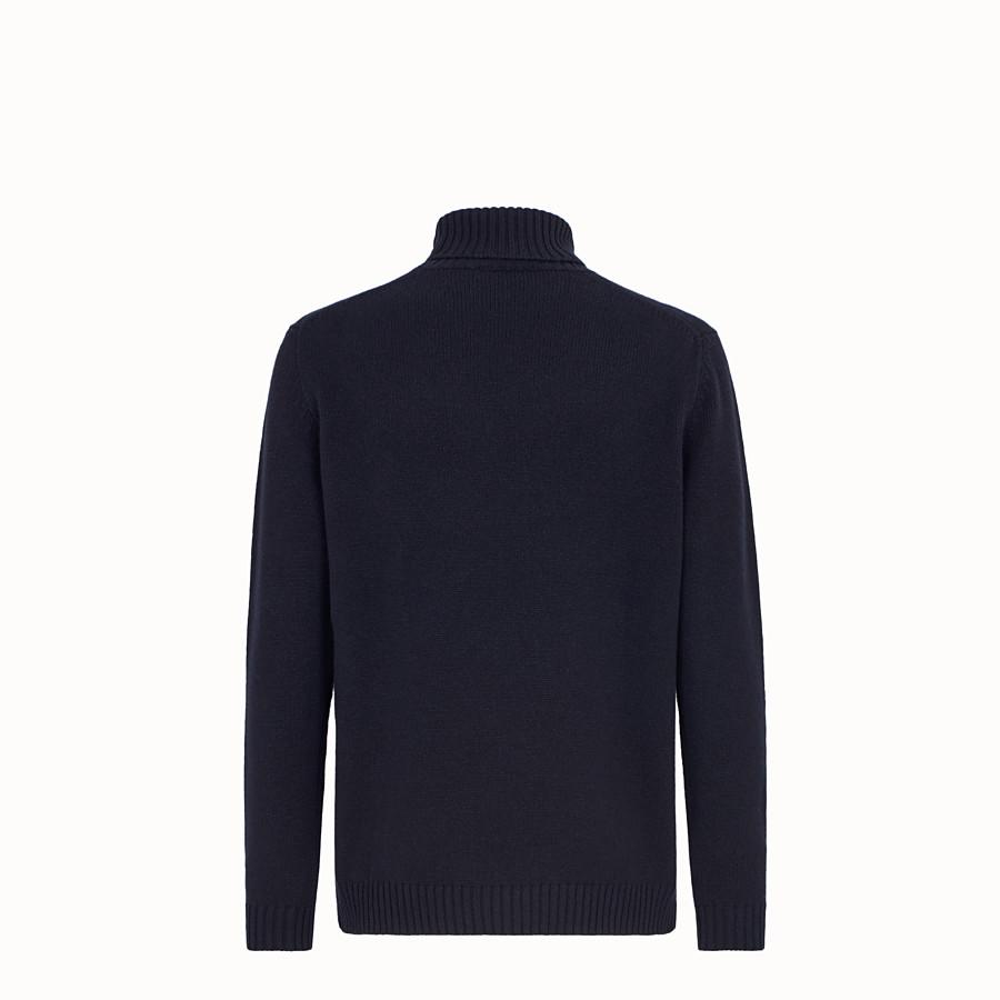 FENDI ROLLKRAGENOBERTEIL - Pullover aus Kaschmir in Blau - view 2 detail