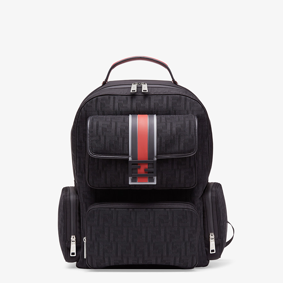FENDI BACKPACK - Black tech fabric backpack - view 1 detail