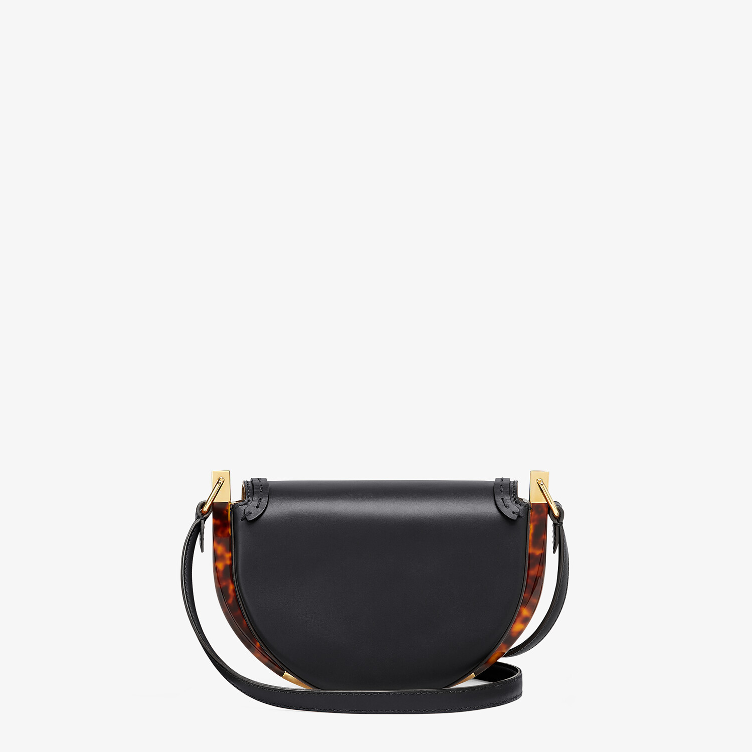 FENDI MOONLIGHT - Black leather bag - view 4 detail