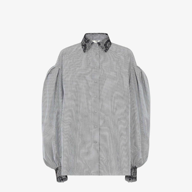 FENDI SHIRT - Striped cotton shirt - view 1 detail