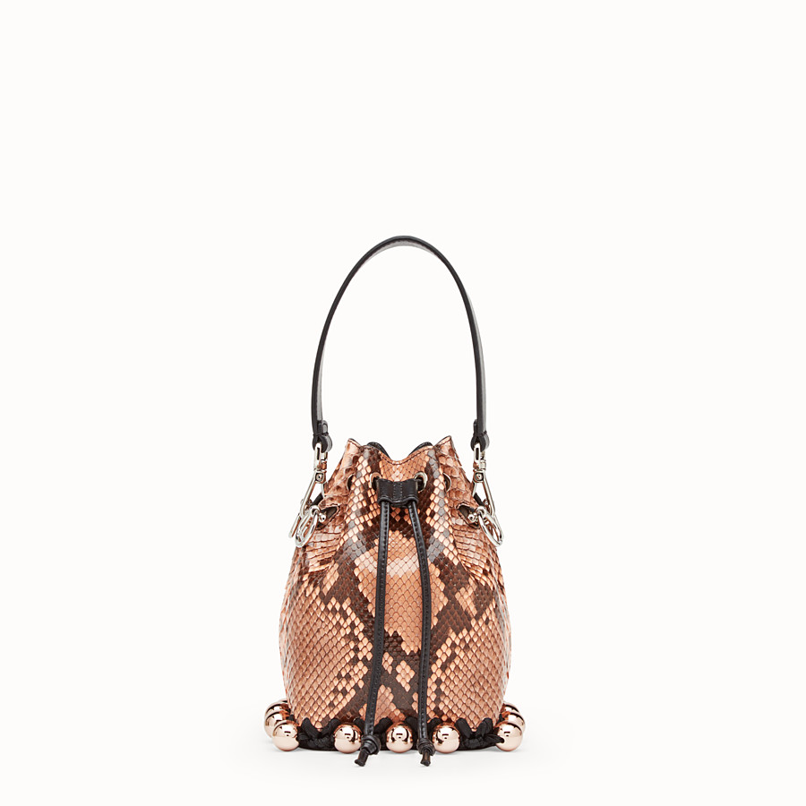 FENDI MON TRESOR - Pink python mini-bag - view 1 detail