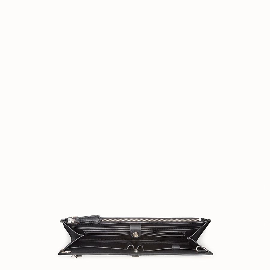 FENDI FLAT POUCH - Black leather bag - view 4 detail