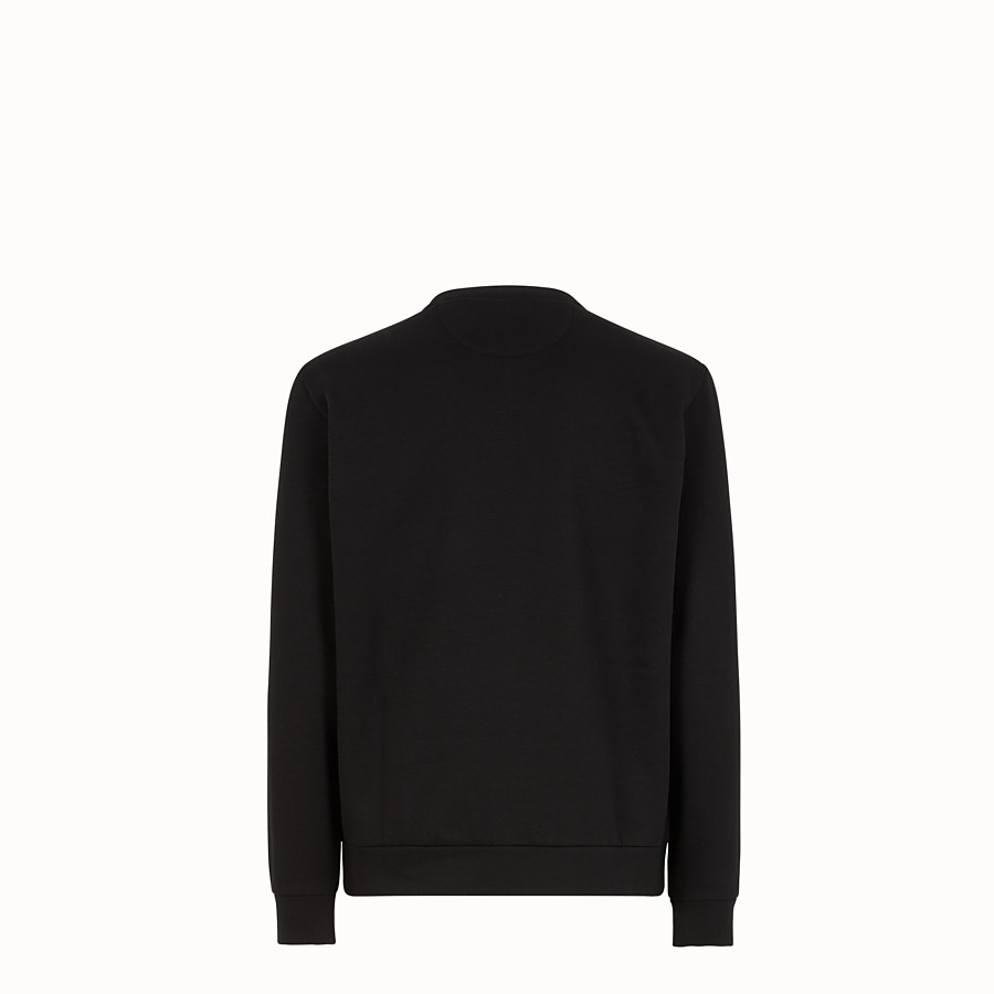 FENDI SWEATSHIRT - Black cotton sweater - view 2 detail