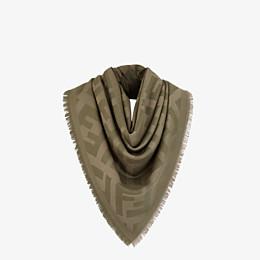 FENDI FF SCHULTERTUCH - Schultertuch aus Wolle und Kaschmir in grün - view 2 thumbnail