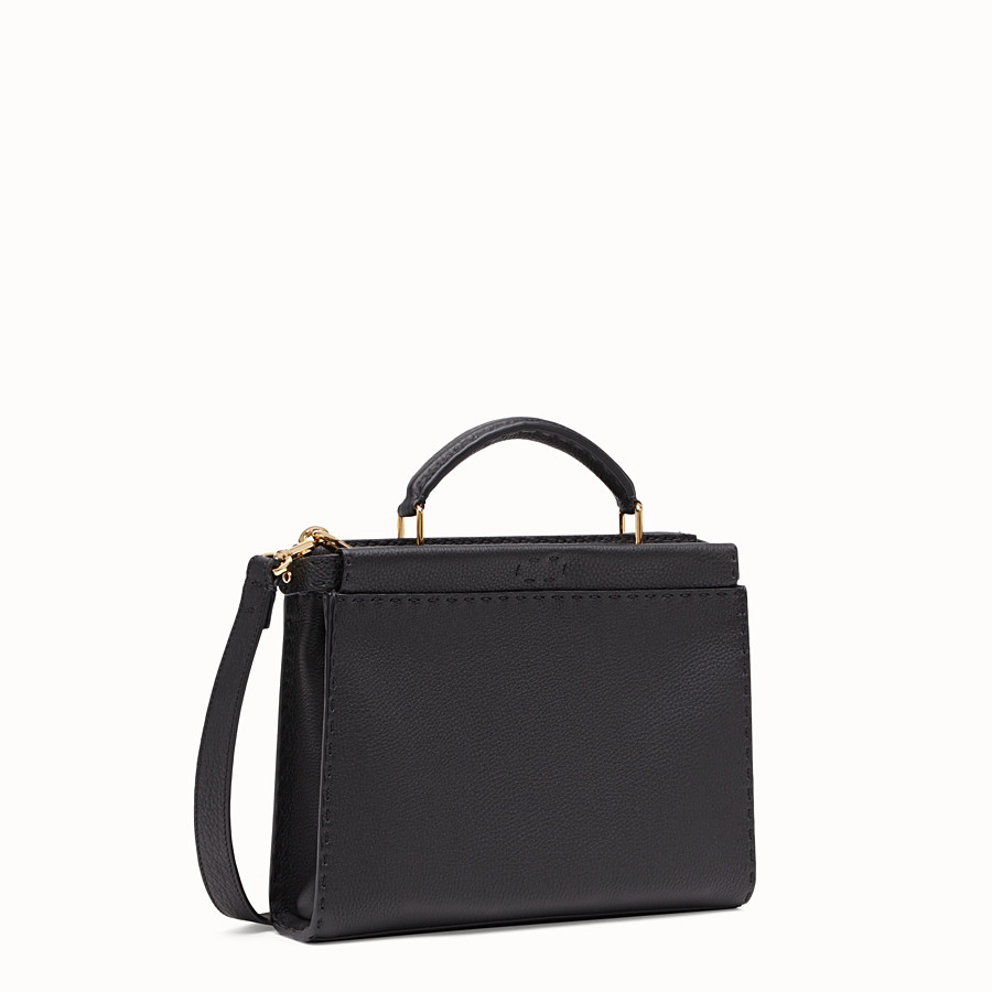 FENDI PEEKABOO ICONIC FIT MINI - Tasche aus Leder in Schwarz - view 2 detail