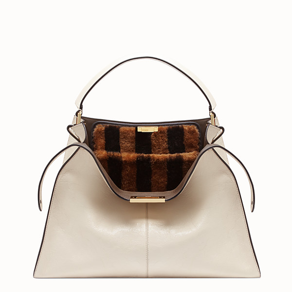 FENDI PEEKABOO X-LITE LARGE - White leather bag - view 1 small thumbnail