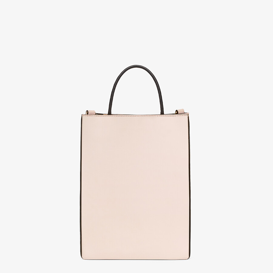 FENDI FENDI PACK SMALL SHOPPING BAG - Pink leather bag - view 4 detail