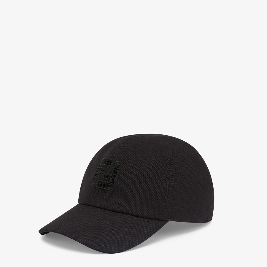FENDI HAT - Black canvas baseball cap - view 1 detail