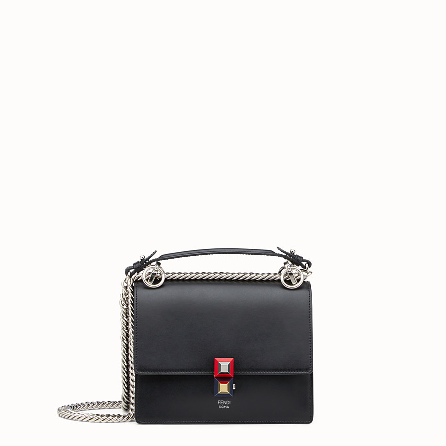 1311fe3f73 Black leather mini bag - KAN I SMALL