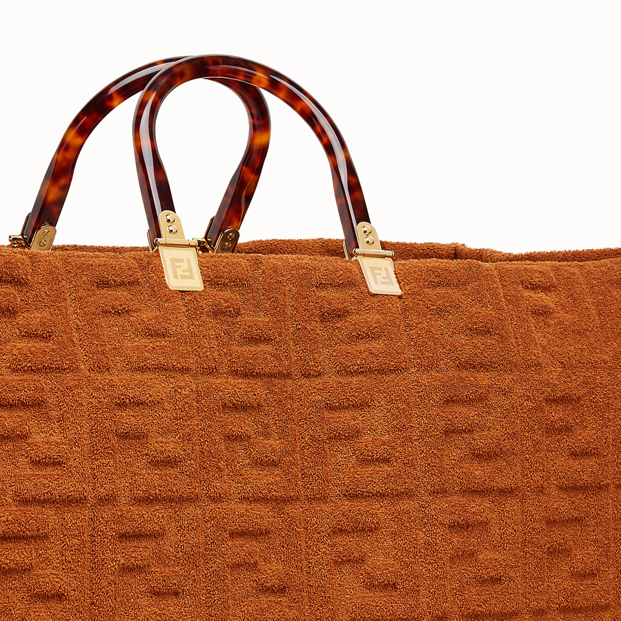 FENDI SUNSHINE SHOPPER - Shopper in brown terry - view 5 detail